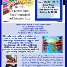 Georgia or BUST!!  Please help A Goddess Journey get to the 2nd Annual Liberated Minds Black Homeschool and Education Expo!