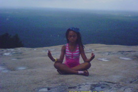 It wouldn't be A Goddess' Journey if I didn't get some meditation in up here on Stone Mountain...