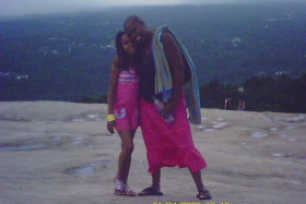 A rare pic of my Mommy and I...having fun on Stone Mountain...she's normally the photographer:@)....